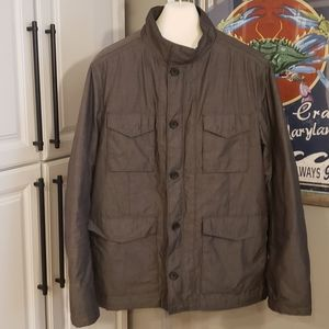 Banana Republic Field Jacket XL Plaid Quilted